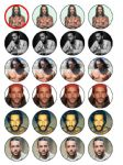 24 x Pete Wicks TOWIE Rice Wafer Paper Cake Top Toppers